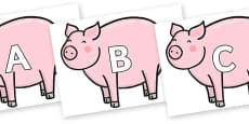 A-Z Alphabet on Chinese New Year Pig