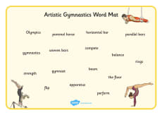 The Olympics Artistic Gymnastics Word Mat