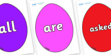 Tricky Words on Easter Eggs (Coloured)