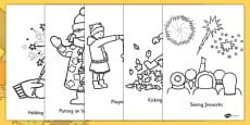 Autumn Action Colouring Pages