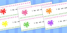 Splat Combined Number and Alphabet Strips