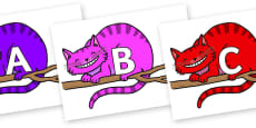 A-Z Alphabet on Cheshire Cats