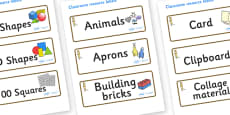 Meerkat Themed Editable Classroom Resource Labels