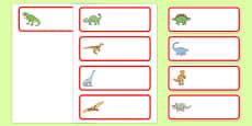 Editable Dinosaur Drawer Labels