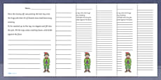 Santa's Workshop Story Starter Activity Sheets
