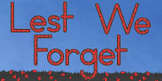Lest We Forget Display Lettering (Australia)
