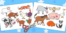Stick Puppets to Support Teaching on Farmyard Hullabaloo
