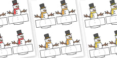 Editable Self Registration Labels (Snowmen)