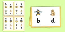 B, D, P and Q Desk Cards