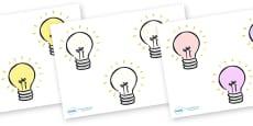 Editable Lightbulbs (Small)