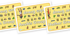 Class Table Group Signs (Ancient Egyptians)