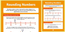 Large Rounding Numbers Poster