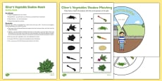 Oliver's Vegetables Shadow Match Busy Bag Resource Pack for Parents