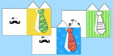 Grandad Flap Tie Card Craft Polish