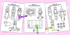 Rapunzel Words Colouring Sheet