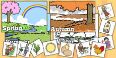 Seasonal Pictures Cut and Stick Activity