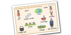 The Magic Porridge Pot Word Mat