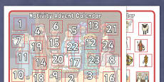 My Nativity Advent Calendar Activity Activity Sheet
