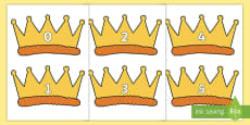 Numbers 0-30 on Crowns