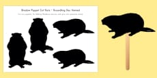 Groundhog Day Shadow Puppet Cut-Outs