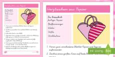 Herztasche Papiermodell