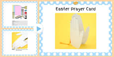 Easter Prayer Card Craft PowerPoint