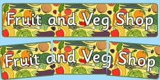 Fruit And Veg Shop Role Play Display Banner