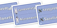Editable Class Group Signs (Space)