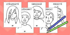 Emoțiile noastre - Fișă de colorat
