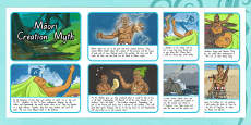 Māori Creation Myth Sequencing Activity Sheets