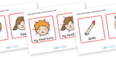Parts Of The Body Communication Cards
