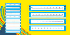 The Olympics Number Lines