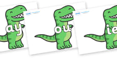 Phase 5 Phonemes on T Rex Dinosaurs