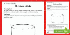 Christmas Cake Activity Sheets