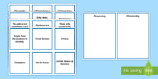 * NEW * Democracy or Dictatorship Sorting Cards