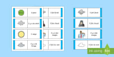 * NEW * Weather Card Game French