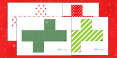 3D Gift Box Net Templates for Christmas