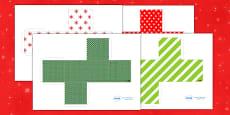 3D Gift Box Net Templates for Christmas
