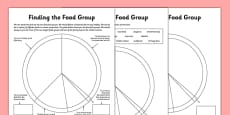 Finding the Food Group Worksheets