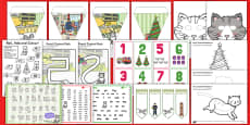 Christmas Cat Themed Lesson Ideas and Resource Pack