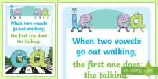 Phonics Vowel Rhyme A3 Poster