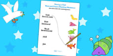 Word and Picture Matching Worksheet to Support Teaching on Sharing a Shell