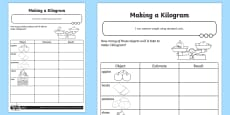 * NEW * Making a Kilogram Activity Sheet