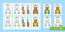 Describe It Colour It Teddy Game Arabic/English