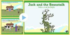 Jack and the Beanstalk Story PowerPoint English/Portuguese