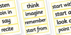 Year 2 Maths Vocabulary Word Cards Instructions