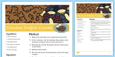 Chocolate Gruffalo Crumble Recipe to Support Teaching on The Gruffalo