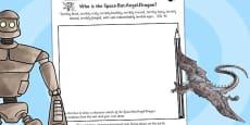 The Iron Man Space Bat Angel Dragon Character Sketch Activity Sheet