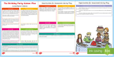 ROI The Birthday Party Aistear Planning Template
