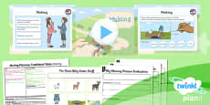 PlanIt - D&T KS1 - Moving Pictures: Traditional Tales Lesson 6: Making
